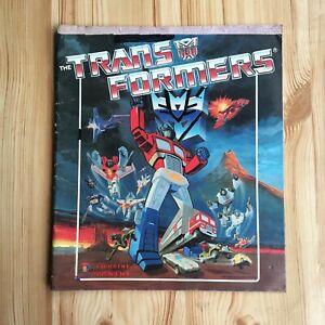 1986 Vintage Hasbro Panini The Transformers Sticker Album 86 Book Optimus Prime