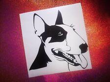ENGLISH BULL TERRIER/PITBULL dog lover car window bumper vinyl sticker/decal