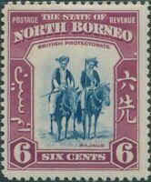 Malaysia North Borneo 1939 SG307 6c Mounted Bajaus MLH
