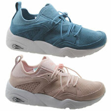 Zapatillas deportivas de mujer planos de color principal azul de ante