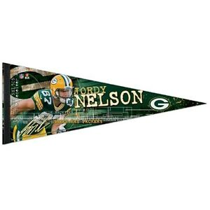 """JORDY NELSON GREEN BAY PACKERS PREMIUM QUALITY PENNANT 12""""X30"""" BANNER"""