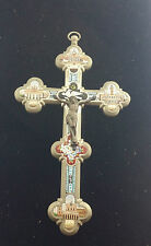 C.1895 Antique ITALIAN MICRO-MOSAIC ROME GRAND TOUR  Wall Hanging Cross/Crucifix
