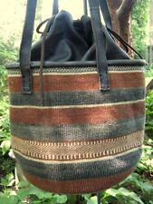 Gorgeous Baobab & Leather Bag- An African Treasure in Natural Plant Dyed Colors