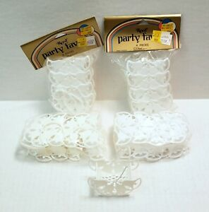 🔥 Lot of Vintage REED Party Favors WEDDING BELLS BASKETS White Table Decor NOS