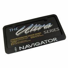 Lincoln Navigator Black License Plate Frame
