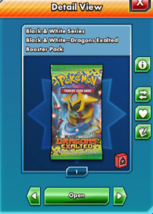 Pokemon Ptcgo online black and white dragons exalted booster pack- DIGITAL