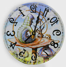Alice in Wonderland Caterpillar clock ,Alice home decor, runs backwards, U.S.A.
