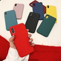 Color Case Silicone For iPhone XS MAX XR X 7 8 6s Plus Cover Solid Phone Candy