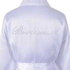 Wedding Day Rhinestone Satinbridesmaid Bathrobe Personalised Honeymoon Dressing