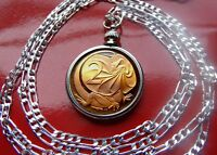 """Australia Proof Frilled Neck Lizard Coin Pendant on a 28"""" Sterling Silver Chain"""