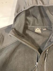 NEW w/out tags - Mens L Reebok Full Zip Hoodie Jacket Fleece Mixed Media BLACK