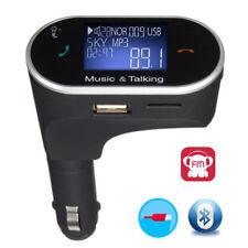 Wireless Bluetooth FM Transmitter Car Charger w/Display Remote for HTC U11 10 LG