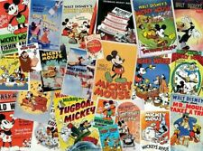 NEW Disney MICKEY MOUSE Vintage Classic Movie Short Poster Collage Jigsaw Puzzle