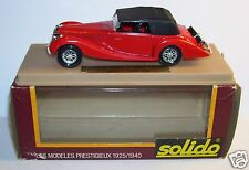 AGE D'OR SOLIDO OLD DELAHAYE 135M 1939 FIGONI FALASCHI ROUGE 1/43 IN BOX a