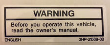 YAMAHA YZF600 YZF1000 R1 R6 PETROL TANK CAUTION WARNING DECAL 2
