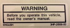 Yamaha YZF600 YZF1000 R1 R6 Calcomanía de advertencia de precaución Tanque de Gasolina 2