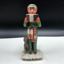 Norman Rockwell Figurine vintage porcelain miniature 1979 Nr-203 caroler dog #2