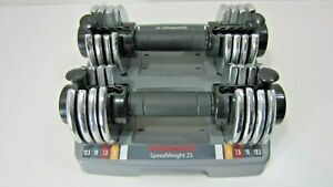 2 Weider Speed Weights Adjustable Dumbbells 25 Lbs Total Weight. Weights & Stand