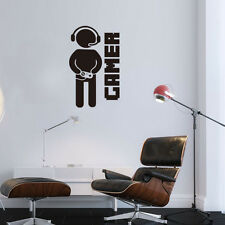Gamer Removable Wall Stickers Video Games Joystick Play Room Vinyl Decal Decor
