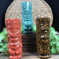 TIKI FARM Mugs Tiki Iniki Bar Todd Rundgren Kuaui Hawaii LOT OF 3 NEW in box