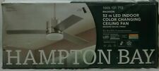 NEW!!  HAMPTON BAY Madison 52 in. Integrated LED Brushed Nickel Ceiling Fan
