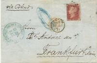 "2427 1871 QV 1d rosered pl.100 (KC) VF printed matter LONDON numeral cancel ""47"""
