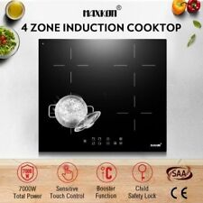 NEW 7000W Compact 60cm 4 Zone Electric Induction Cooktop Hob Touch Control Timer