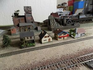 FALLER, FOUR VARIOUS HOUSES, SCALE N