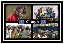 CONGO, CENTRAL AFRICA - SOUVENIR NOVELTY FRIDGE MAGNET - FLAGS / SIGHTS - NEW