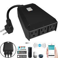 Sockets Outdoor Smart Plug Waterproof Wifi Outlet Power Strip Alexa Google Home
