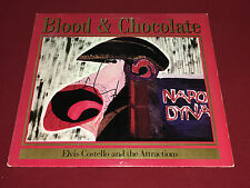 ELVIS COSTELLO SIGNED LP AUTOGRAPHED BLOOD AND CHOCOLATE THE ATTRACTIONS PROOF
