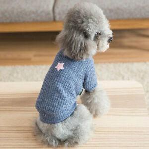 Pet Dog Cat Knitted Sweater Puppy Soft Warm Coat Early Spring Winter Apparel