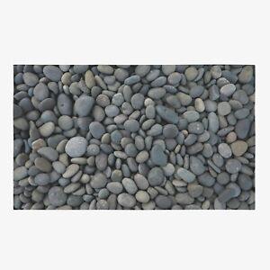 Pebbles Area Rug gray Rug grey Rug stones Floor Rug gray Mat nature rug unique