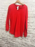 VICTORIA'S SECRET PINK BASIC RED Tee V-NECK 5th OCEAN T-Shirt XS X-SMALL NEW