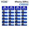 20 Pcs 3V Button Battery Coin Cell Li-ion 5004LC ECR2032 CR2032 DL2032 KCR2032