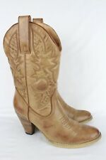 Very Volatile Women's Denver Cowboy Western Boots 10m Beige