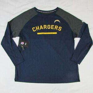 Nike LA Chargers Football Women's Long Sleeve T Shirt Navy Blue Gray NFL