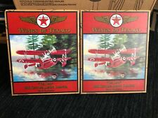 LOT OF 5 WINGS OF TEXACO DIE-CAST COIN BANKS & CRAYOLA LIMITED 1:32 PLANES, NEW
