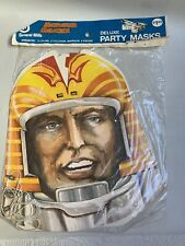 Vtg Nos 1978 Battlestar Galactica Paper Party Masks Two of Apollo & Cylons #A