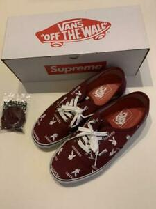 VANS Supreme Playboy Triple name Red Burgundy sneakers shoes US10 with box