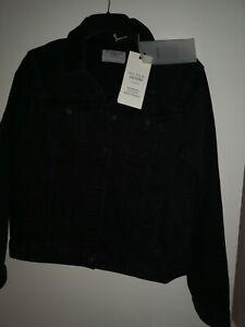 new with tags size 16 fat face tasha black denim jacket rrp £50.00