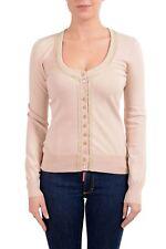 Dolce&Gabbana Women's Beige Cardigan Sweater US M IT 42