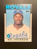 1986 Topps Traded Bo Jackson #50T Rookie Baseball Card Kansas City Royals MLB