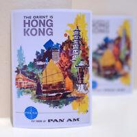 "#3223 Pan Am Hong Kong Air Travel Vintage Retro 3x4"" Luggage Label Decal Sticker"