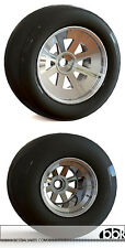 "1/12 RESIN 15"" FRONT & 13"" REAR 8 SPOKE WHEEL SET for PROTAR ALFA 179 GIACOMELLI"