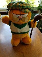 Vtg 1978 Dakin Garfield Cat Stuffed Plush Golf Player Golfer Duffer Putz