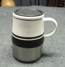Norwood RCC Koozie 18-8 Stainless & Black/White Ceramic Mug Coffee Cup Large