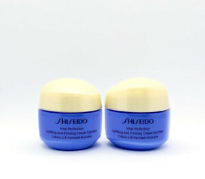 2 x Shiseido Vital Perfection Uplifting and Firming Cream ENRICHED 15ml ea