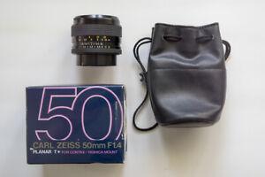 Contax Carl Zeiss Planar T* 50mm f/1.4 MMJ Lens EX++ US Seller