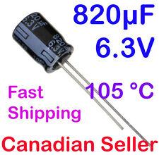 5pcs 820uF 6.3V 8x11.5mm 105C Panasonic FR Low ESR For LCD TV LED PS PC TFT DVD